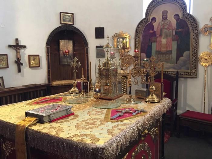 Митрополит марк, в неделю вторую по пасхе, возглавил богослужение в екатерининском кафедральном соборе города